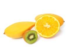 Exotic fruits on white Stock Photography