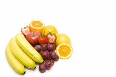 Exotic Fruits on white backgorund. Fresh exotic fruits isolated in white Stock Photos