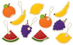 Exotic fruity Labels Royalty Free Stock Images