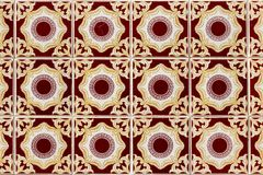 Exotic geometric tile pattern stock image