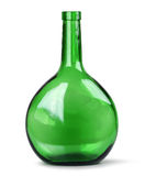 Exotic green glass bottle Stock Photos
