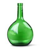 Exotic green glass bottle. On white background Stock Photos