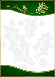 Exotic Green Holly Adorned Gift Card or Label. With Room For Your Own Text vector illustration