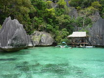 Exotic holidays. Holidays in Palawan, the Philippines Stock Images