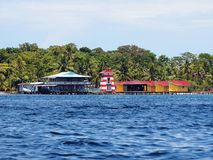 Exotic houses in Bocas del Toro Royalty Free Stock Images