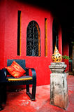 Exotic Interior. An exotic place to relax in Thailand Royalty Free Stock Photography