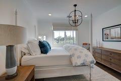 Exotic Island Vacation Resort Hotel Bedroom Stock Image