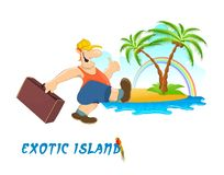 Exotic island poster Stock Photos