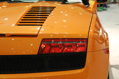 Exotic italian sports car detail Royalty Free Stock Images