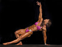 Exotic Korean Physique Athlete Competes in Vancouver Royalty Free Stock Photography