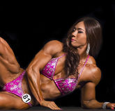 Exotic Korean Physique Athlete Competes in Vancouver Stock Photo