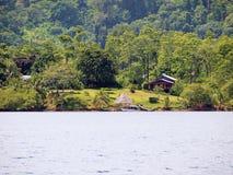 Exotic land. Exotic caribbean property in archipelago of Bocas del Toro, Panama stock photos