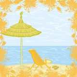 Exotic landscape, beach Royalty Free Stock Images