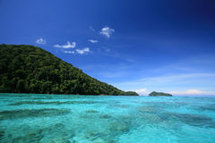 Exotic landscape of transparent andaman sea Stock Images