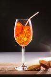 Exotic long drink with orange slices Royalty Free Stock Photography