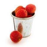 Exotic lychee fruit Stock Image