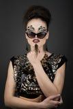 Exotic make up royalty free stock photo
