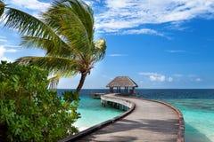 Exotic Maldives resort Royalty Free Stock Image