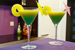 Exotic martini cocktails Stock Photos