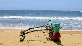 Exotic matara beach, sri lanka stock video