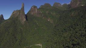 Exotic Mountains. Wonderful Mountains. Mountain of the Finger of God, city of Teresopolis, state of Rio de Janeiro, Brazil, South America stock video