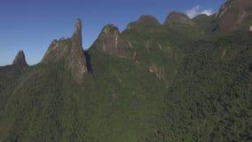 Exotic Mountains. Wonderful Mountains. Mountain of the Finger of God, city of Teresopolis, state of Rio de Janeiro, Brazil, South America stock footage