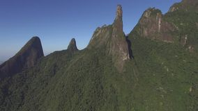 Exotic Mountains. Wonderful Mountains. Mountain of the Finger of God, city of Teresopolis, state of Rio de Janeiro, Brazil, South America stock video footage