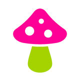 Exotic mushroom icon. Vector illustration Royalty Free Stock Images
