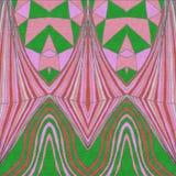 Exotic paint handdraw. Pink green vector illustration