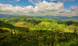 Exotic Panorama view on mountain landscape Royalty Free Stock Photos