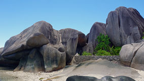 Exotic paradise. Summer in exotic paradise on la digue island Stock Photography