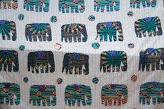 Exotic patchwork. Patterned fabrics, Turkey Royalty Free Stock Image