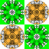 Exotic pattern card. The pattern in the squares, modern, exotic Royalty Free Stock Photography