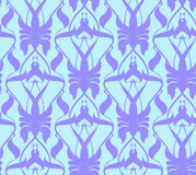 Exotic pattern card. The pattern in the squares, modern, exotic Royalty Free Stock Images