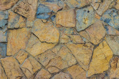 Exotic pattern of decorate slate stone wall background. Abstract Royalty Free Stock Images