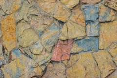 Exotic pattern of decorate slate stone wall background. Abstract Royalty Free Stock Photography