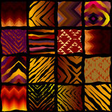 Exotic pattern in patchwork style Stock Image