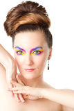 Exotic professional makeup woman Royalty Free Stock Photography