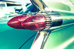 Exotic rear lights of a car Royalty Free Stock Photo