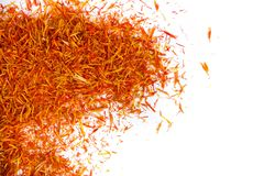 Exotic red hot spice, saffron for coloring food. background. royalty free stock photography