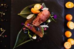 Exotic restaurant gourmet food Stock Photography