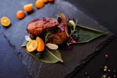Exotic restaurant gourmet food Royalty Free Stock Photo