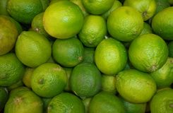 Exotic ripe fruits of lime. Exotic ripe lime fruits on the market stock photo