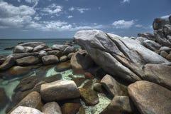Exotic rocky beach at belitung island. Photo of exotic rocky beach at belitung indonesia Royalty Free Stock Image