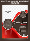 Exotic salon flyer & magazine design template Stock Images