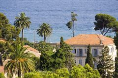 Exotic scenery. Typical view of the city of Cannes, French Riviera, Cote d'azure Stock Image