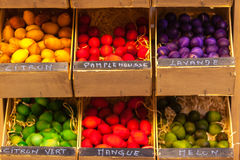 Exotic scented wooden balls for sale in France Royalty Free Stock Photography