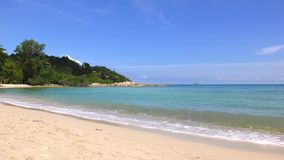Exotic sea coast, beautiful turquoise water. Beach of Tropical Island in Thailand stock video footage