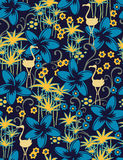 Exotic seamless pattern. Seamless pattern with styled birds Royalty Free Stock Photography