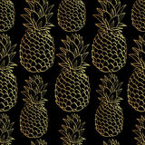 Exotic seamless pattern with silhouettes tropical Royalty Free Stock Photo